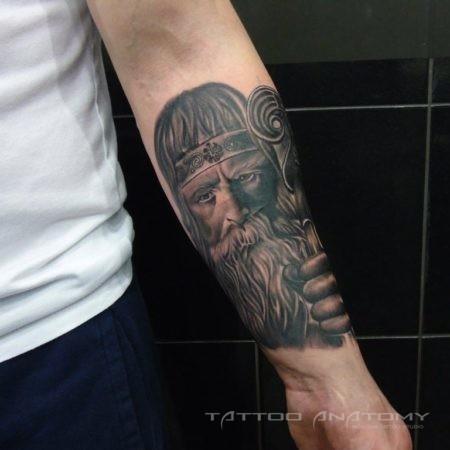 Мужское тату в стиле Реализм Славянин
