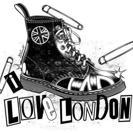 эскиз тату стиля Black gray лондон кеды