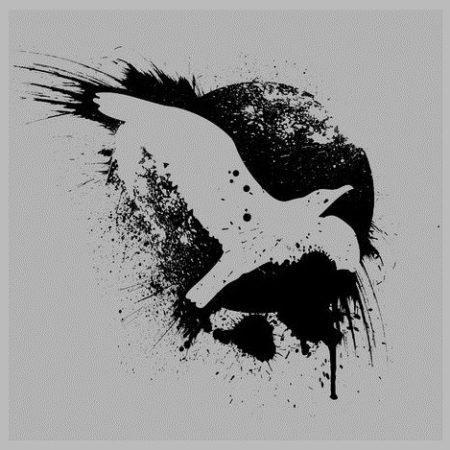 Эскиз в стиле блекворк птица