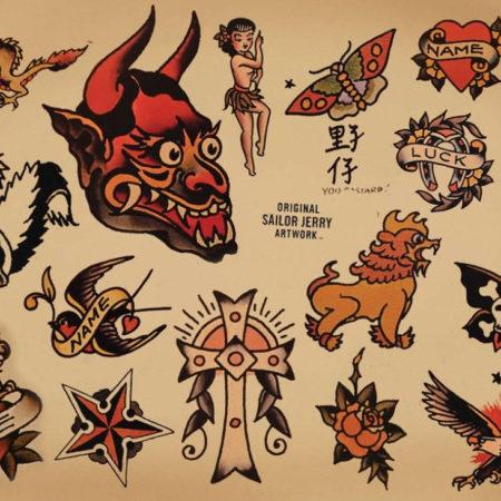 Эскизы тату в стиле Олд Скул