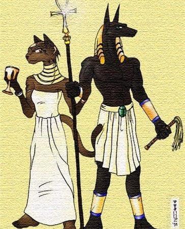 Эскиз татуировки в египетском стиле