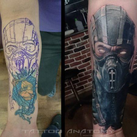Перекрытие татуировки - Скорпион